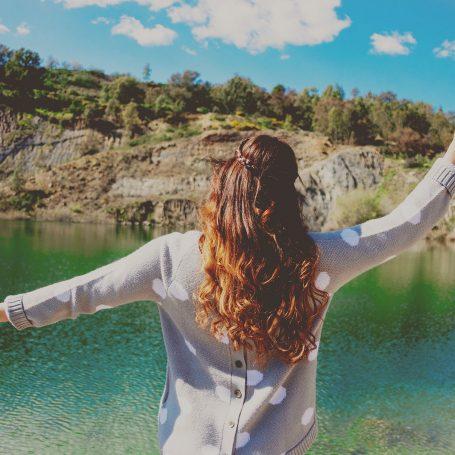 Woman enjoying life and freedom